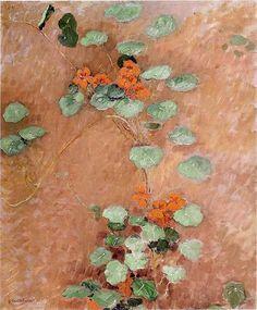 Gustave Caillebotte, [1848-1894]. Nasturtiums 1892. Oil on canvas