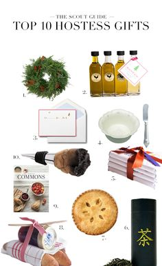Top 10 Hostess Gifts.  The holiday party season is coming up. In fact, in some cities, it's already started. Be prepared ahead of time with a thoughtfully curated collection of hostess gifts in your closet. From open houses to cocktail affairs, these small gestures will go a long way.