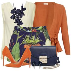Floral Shorts & Wrap Front Cardigan