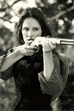 """Bad Girls Madeleine Stowe.... """"Get your skinny rear off my property or I'll shoot you straight to hell."""" Madeleine Stowe"""