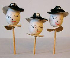 Vintage Thanksgiving JAPAN Spun Cotton Pilgrims