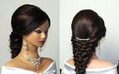 Wedding prom party hairstyles for long hair. Свадебная прическа, вечерня...