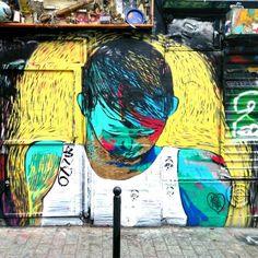 Mixtur - street art rue dénoyez paris 20 mai 2015