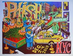 Phish MSG - Dec. 2-4, 2009. (Pollock)  My first run at the infamous MSG.