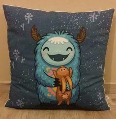 Coussin enfant - modèle yeti - décoration de chambre enfant - coussin fait main : Linge de lit enfants par small-sleeper