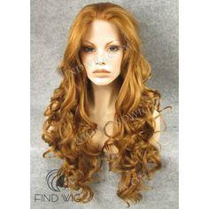 Wavy Ginger Long Wig. Jessica Rabbit Wig. Online Wig Store