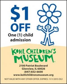 Lincoln children's museum discount coupons