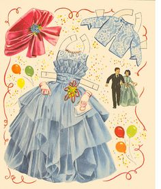 Kathleen Taylor's Dakota Dreams: Thursday Tab- Saalfield Parade of Paper Dolls, 1960