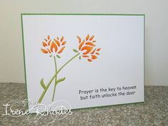 Memory Box wild bloom die. The orange green and white are a good colour combination.