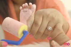 Bricolez un souvenir avec les empreintes de bébé! De quoi faire fondre le coeur de papa!