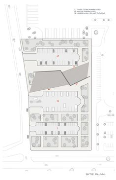 Image 12 of 20 from gallery of Kayseri West City Bus Terminal / Bahadir Kul Architects. Bus Terminal, Site Plans, Parking Design, Gifts For Photographers, Bus Station, Square Photos, Flash Photography, Architecture Plan, Parking Lot