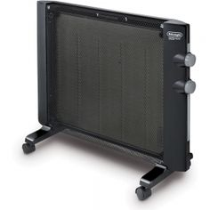DeLonghi HMP1500 Mica Panel Heater. Great for mobile homes & trailers or large rooms Lightweight and stylish way to heat your room; the sleek, modern design is perfect for any home decor  Efficient use of space with wall-mountable option Simply remove the feet from the base and mount to any wall; wall mounting kit included  Customize your heating needs with the adjustable thermostat and two heat settings; choose the high setting for 1500-watt or the low setting for 750-watt  …