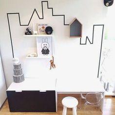 mommo design: BLACK AND WHITE IKEA HACKS FOR KIDS ❥
