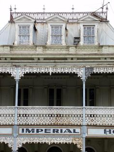 old abandoned imperial hotel building, castlemaine, victoria
