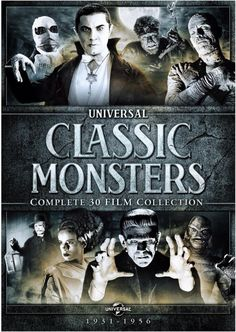 Coming out in September, all-new re-issued Complete DVD set of the classic Universal Classic Monster horror films