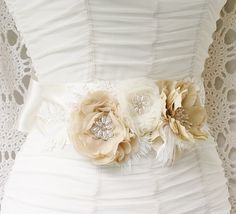 Bridal Sash by FancieStrands