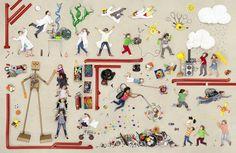 Le photographe Jan Von Holleben continue à travailler sur ses photos d'enfants allongés sur le sol et photographiés d'en haut pour créer des scènes imaginaires mais maintenant les prends de façons différentes avec des objets différents pour les assembler dans des compositions géantes sur différents thèmes qui représentent des mondes imaginaires peuplés d'enfants. La série …