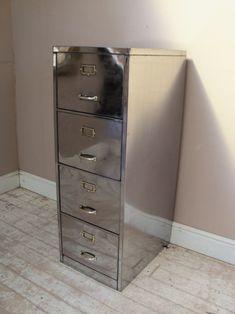 shiny polished filing cabinet
