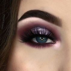 100 Stunning eye makeup ideas - beautiful eye shadow ,Burnt Orange and Gunmetal Glitter highlight #eyeshadow #eyemakeup #makeup