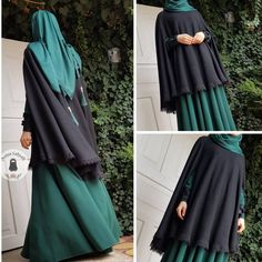 No photo description available. Niqab Fashion, Muslim Fashion, Modest Fashion, Fashion Dresses, Moda Hijab, Hijab Gown, Mode Abaya, Hijab Collection, Outfit Look