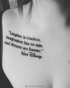 What makes our life more magical than a Disney Tattoo forever? We show you the most popular Disney tattoos, which will perpetuate a fairy tale memory on our skin! Trendy Tattoos, New Tattoos, Body Art Tattoos, Tattoos For Women, Cool Tattoos, Tatoos, Saying Tattoos, Tattoo Sayings, Arm Quote Tattoos