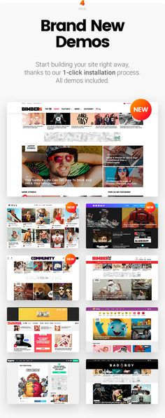 Bimber is a viral magazine theme, that lets you launch a fully functional viral site in no more than 24 hours. It comes with powerful sharing buttons; popular, hot, trending listings and multiple ad locations. #WordPress #template #viral