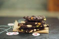 Almond Pistachio Sea Salt Dark Chocolate Bark