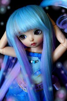 FairyLand, LittleFee, Luna Gorgeous colored wig