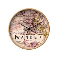 European Wander Wall Clock #clock #decor