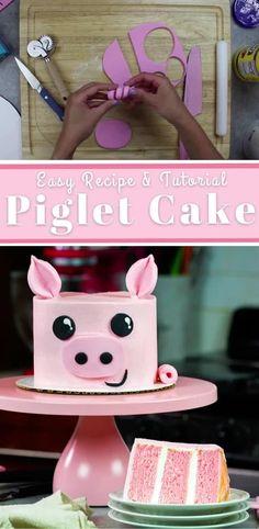 Birthday Cake Video, Farm Birthday Cakes, Animal Birthday Cakes, Cow Cakes, Girl Cakes, Cupcake Cakes, Pig Cupcakes, Animal Cakes For Kids, Farm Animal Cakes