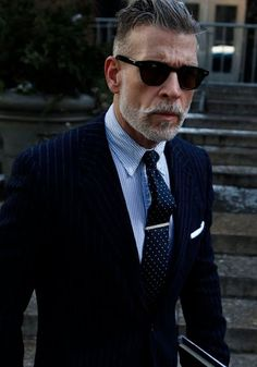 Gentlemen take notes from Nickelson Wooster  #Hair #Mustache #Beard #Classic #Style