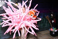 I was a sea anemone with clownfish (Nemo) for Halloween this year. I won first prize for most unique/creative costume at work!