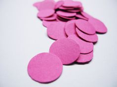 200 Hot Pink & Ivory Circle Confetti Party by MilenaSupplies, €2.40