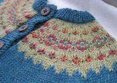 Stranded Baby Cardigan