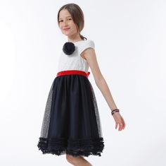 ROCHIE CU BUST BRODAT SI TUL BLEUMARIN Special Occasion, Girls Dresses, Skirts, Fashion, Tulle, Moda, Dresses Of Girls, Little Girl Dresses, Skirt