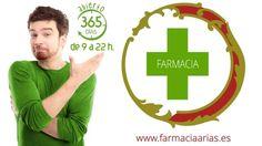 En Farmacia Arias valoramos tu tiempo, por eso abrimos todos los días del año de 9:30 a 22:00 h. y siempre en www.farmaciaarias.es