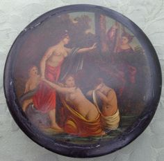 Antique Regency Papier Mache Painted Snuff Box Diana and Actaeon Stobwasser 1820 in Collectables, Tobacciana/ Smoking, Snuff Boxes | eBay