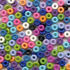 3mm Rubber O-Rings great for wire stringing - Bags of 25 Rings come in 13 great colors