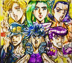 "Crunchyroll - Generations Of ""Jojo's Bizarre Adventure"" Featured In Animator's Mother's Day Art"