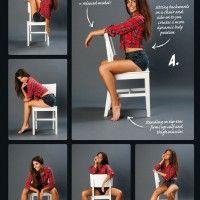 Позы для фотосессии со стулом