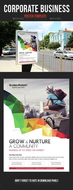 Corporate Business Poster Template PSD. Download here: http://graphicriver.net/item/corporate-business-poster-template-v04/14557065?ref=ksioks