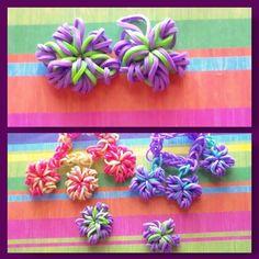 Rainbow Loom: Flower/Snowflake Charm Tutorial