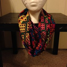 Aztec Print Infinity Scarf/Multi-Color Infinity Scarf on Etsy, $8.00