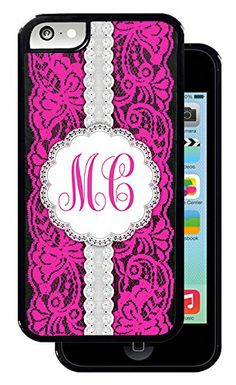 Pink and White Lace Monogram - Black iPhone 5C Protective Rubber Cover Inked Cases http://www.amazon.com/dp/B00L9IR5NW/ref=cm_sw_r_pi_dp_IqVQtb1KF5TG1XG1