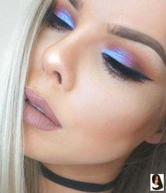Eyeshadow Looks Blue Purple & Orange Sunset Look ♡♡ Blauer lila u. Purple Makeup Looks, Blue Eyeshadow Looks, Orange Eye Makeup, Dramatic Eye Makeup, Makeup For Green Eyes, Pretty Makeup, Makeup Glowy, Orange Eyeshadow, Gorgeous Makeup