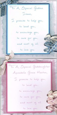 Christening Presents for Boys : I Promise Godchild Card