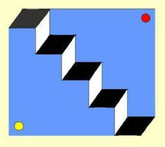 Magic stairs. Optical Illusion