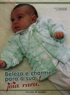 casaquinho de bebê tamanho 3 a 5 meses