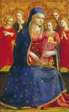 Fra Angelico (Italian painter, 1387-1455) Madonna & Child with Angels 1425