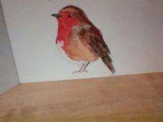 Original watercolour robins